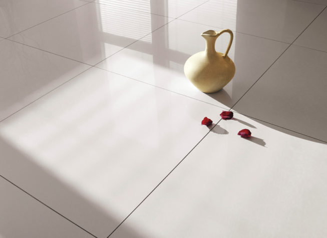 cracked floor and wall tiles